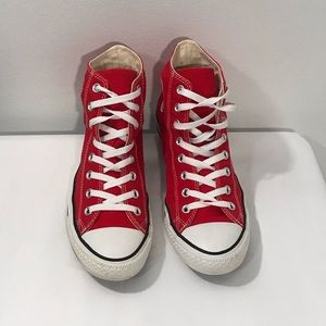 Converse All Star Red Sneakers Men's 7 WO'S 9